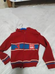 Blusa infantil linha com capuz tamanho M