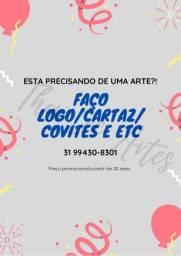 Convite logotipo Cartão de visitas