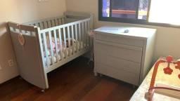 Berço e Cômoda de bebê