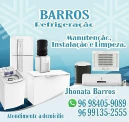 Serviços de refrigeração em geral.