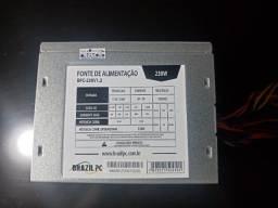 fonte pc 230 watts practicamente sem uso