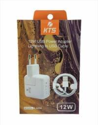 Carregador para iphone 12W compatível com todo iPhone com entrada Lightning