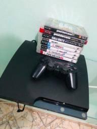 Vendo ps3 hd 320gb  com 8 jogos