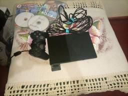 Console Sony PlayStation 2 Slim Preto - PS2 Desbloqueado + 4 jogos de brinde