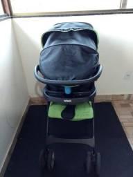 Carrinho e bebê conforto 350,00