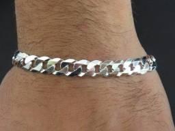 Pulseira prata 925 escama