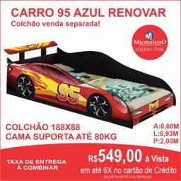Cama Carro 95 Renovar Vermelha