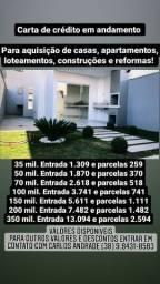Carta de Credito casas