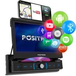 Som automotivo e Dvd Player Retrátil 7'' Touch Positron Sp6330bt Android Usb