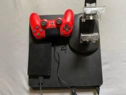 PS4 + 24 Jogos + Torre Carregador + HD Externo 1tb