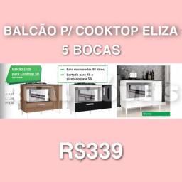Balcão p/ cooktop balcão balcão balcão pra cooktop Eliza 5 bocas 0000928