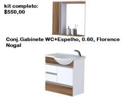 Vendo (não entrego) - Conj.Gabinete WC+Espelho (novo)