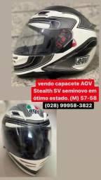 Vendo capacete AGVStealth SV tamanho 57-58. Em ótimo estado.