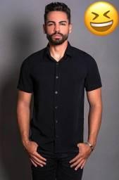 Camisas de botão lisa