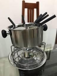 Jogo para fondue novo inox