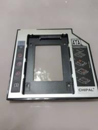 Adaptador Caddy Universal HD/SSD Sata 9,5mm e 12,7mm