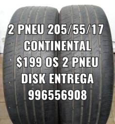 Pneus 205/55/17 continental. Disk entrega