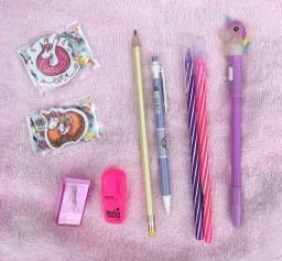 Kit materiais escolares - unicórnio