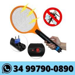 Raquete Elétrica Mata Mosquito Pernilongo Bivolt Recarregável