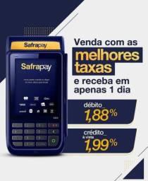 Máquina de cartão SAFRA PAY! A MENOR TAXA DO BRASIL PARA NOVOS CLIENTES!