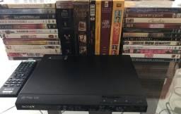 Vendo aparelho de CD/DVD Sony com incrível coleção de DVDs originais