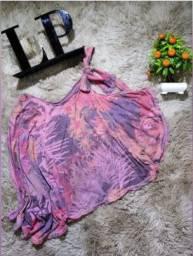 Blusa Feminina Lança Perfume Estampada - Última Unidade