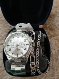 Super promoção Kit de relógio masculino