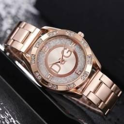 Relógio feminino D&G rosê.