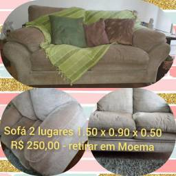 Sofá de dois lugares super confortável