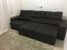 Sofá 3 metros, retrátil e reclinável, tecido de  primeira linha,  ( um mês de uso)