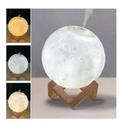 Luminária Lua cheia com umidificador
