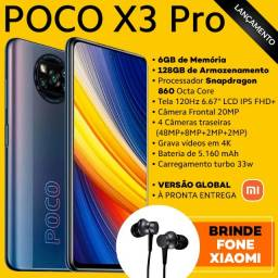Poco X3 Pro 6/128gb +Fone Xiaomi