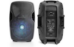 Caixa Amplificada 500w Bluetooth Mic S/ Fio Multilaser Sp263