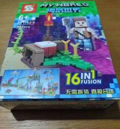 Mini Lego Minecraft coleção 39 peças