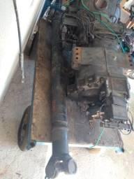 Câmbio automático do Scania P360 / R440 junto com o cardan