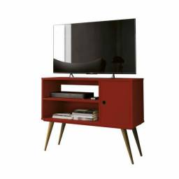 Rack Retrô para TV LCD, Plasma ou LED Realeza- Vermelho<br><br>