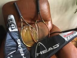Par de raquetes de tênis profissionais HEAD Ti-Heat