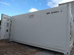 Locação mensal conteiner refrigerado congelado 6 metros 20 pés aço inox