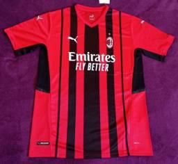 Camisa do Milan (disponível: G e GG)