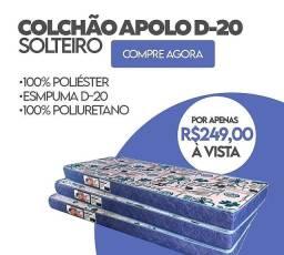 Título do anúncio: Colchão Solteiro D20 R$249,00