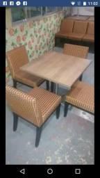 Vendo mesas de Fórmica com Cadeira estofadas estofadas