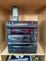 Micro system Sony. Modelo FH G88 AV, Camaleão. Funcionando perfeitamente *menos o CD