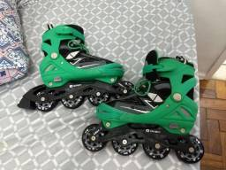 Patins Oxer in line (Verde) - Tamanho 35 a 37