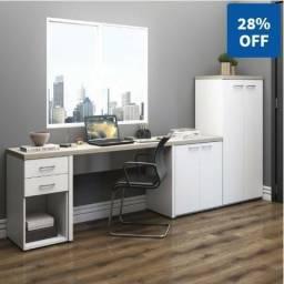Home Office 100% MDF Linha Artany Toq