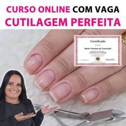 CURSO 100% ONLINE CUTILAGEM PERFEITA COM CERTIFICADO