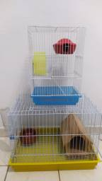 Gaiola para haminter e mini coelho