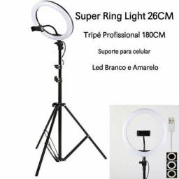 Iluminador Ring Light Youtuber 10 Polegadas 26cm Led Tripé