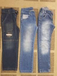 Calças, jeans, crianças, moda, lavado, lote, infantil, roupas