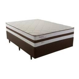 Cama Box Casal Herval Regence com Pillow Top e Molas Ensacadas 60x138x188cm<br><br>