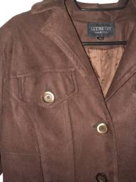 casaco feminino marrom